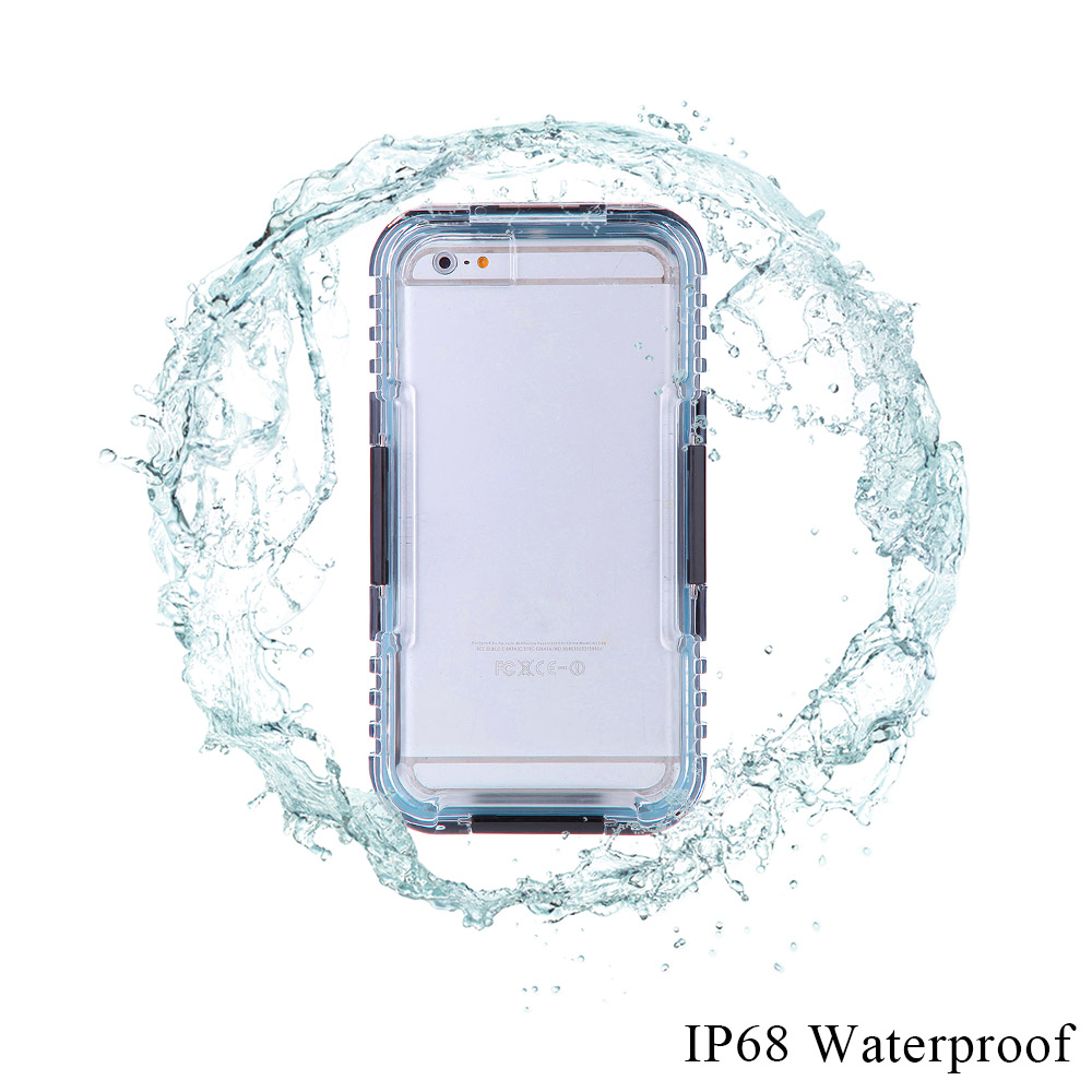 2016 Waterproof Case Dustproof Shockproof Durable Protective Phone Case Mobile Phone Cover with String for iPhone 6 Plus Case(China (Mainland))