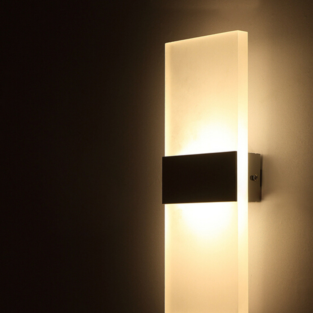 Wall Sconces Led Lighting : Cheap AC100 265V Modern 6W LED Wall Lights Room Office Canteen Acrylic Wall Sconce Lamp Home ...