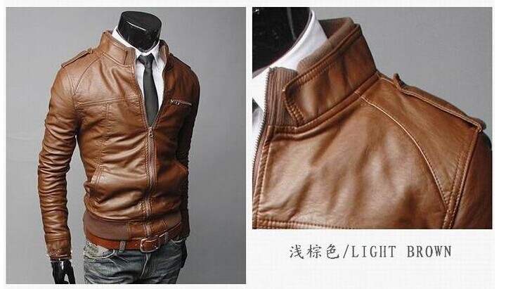 Italian Leather Jacket Mens - Jacket