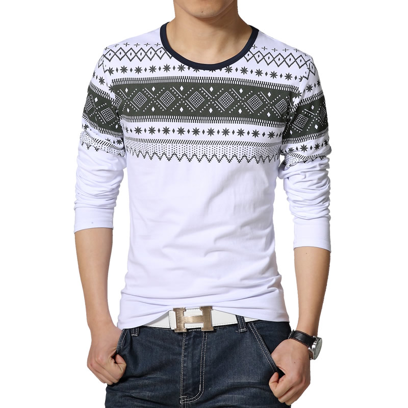 fashion casual camisetas 2015 new high quality cotton tshirt homme long sleeved t shirt o neck t. Black Bedroom Furniture Sets. Home Design Ideas