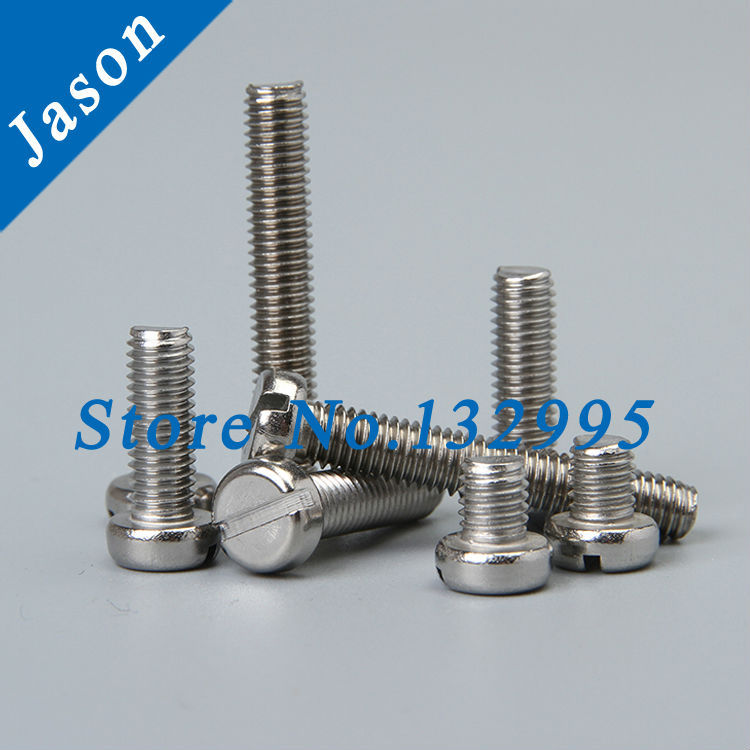 M8*40  DIN84  Stainless steel A2 Slotted cheese head screws  SUS 304 DIN84 M8*L<br><br>Aliexpress