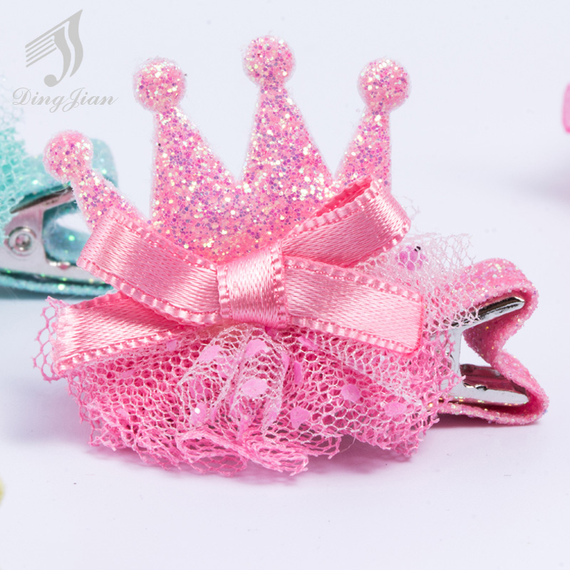 1PC Newest Hat Lovely Korean small crown Girls Hair Accessories Head Clip Hair Barrettes Headwearbaby girl headbands A02288(China (Mainland))