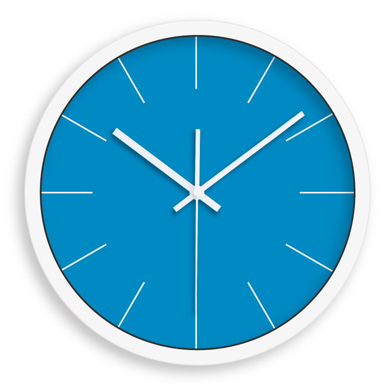 Orologio da muro swatch - Parete blu camera da letto ...