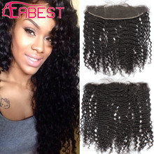 Brazilian Human Hair Ear To Ear Lace Frontal Closure Deep Wave Frontal Cheap Lace Frontal Closures 13*4 Free Middle 3 Part