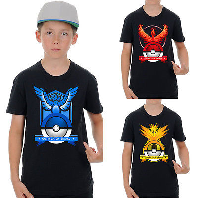 Kids Cartoon ash ketchum pikachu valot instinct mystic T shirt Baby Boys Short Sleeve font b