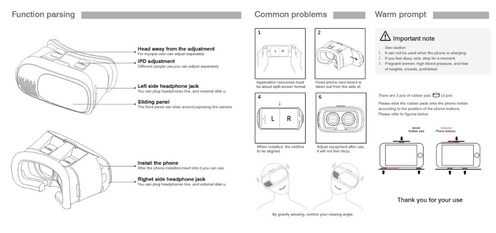 """ถูก G oogleกระดาษแข็งH Eadmount VRกล่อง2.0รุ่นVRแว่นตา3Dสำหรับ3.5 """"-6.0""""มาร์ทโฟน+บลูทูธควบคุมระยะไกลที่มีแพคเกจ"""