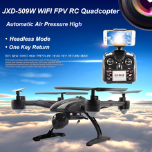 JXD509W WIFI FPV High Hold Mode One Key Return RC Quadcopter RTF 2.4GHz Drone with HD Camera