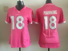Women ladies all stitched PINK Denver Broncos #18 Peyton Manning 58 Von Miller 88 Demaryius Thomas(China (Mainland))