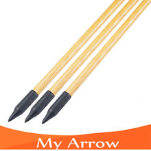 New 3pcs Longbow Wood Arrow Shafts Traditional Wooden Arrows For Compound Bow 80cm Archery Wooden Arrows