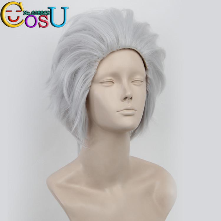 Free Shipping La storia della Arcana Famiglia Debito Grey Straight Short Cosplay Anime Wig+Cap<br><br>Aliexpress