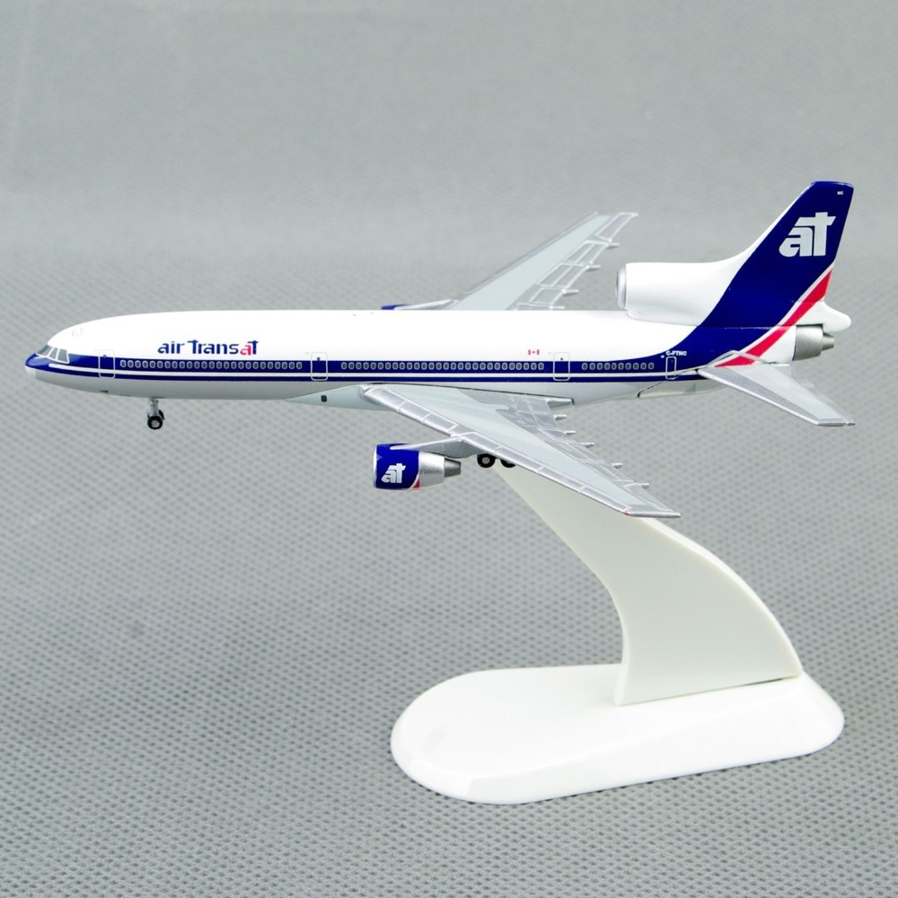 Collectible 1:500 StarJets Air Transat Lockheed L-1011-200 Diecast Airplane Model juguetes Collections Gift White Color(China (Mainland))