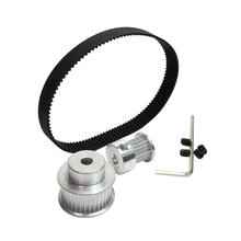 Buy HTD 2GT Timing Belt Pulley Kit Closed Loop Timing Belt Length 232mm Width 9mm Pulley 20 40 Teeth Shaft Center Distance 86mm for $14.26 in AliExpress store