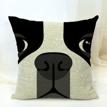 Free Shipping!!boston terrier decorative throw pillows/almofadas case for sofa car bed 45x45 cute dog cushion cover home decore(China (Mainland))