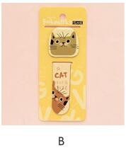 2Pcs/Pack New Various Lovely Cat Magnet Bookmark Paper Clip School Office Supply Escolar Papelaria Gift Stationery H1790