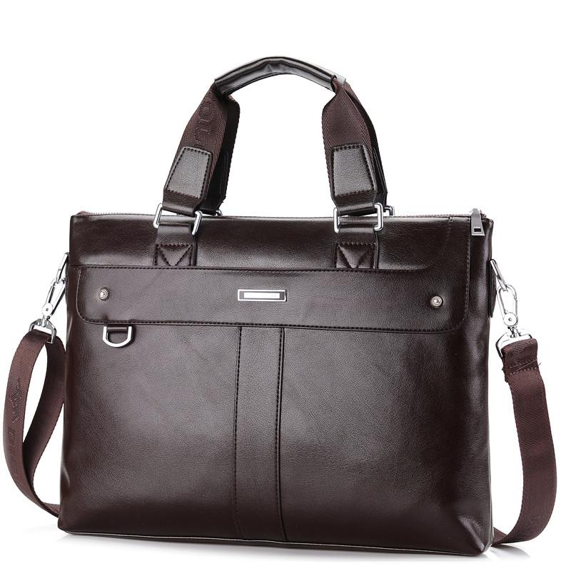 2015 Men Casual Briefcase Business Shoulder Bag Leather Messenger Bags Computer Laptop Handbag Bag Men's Travel Bags NBB235(China (Mainland))