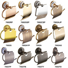 Rose/Gold/Antique/Roman Porcelain Wall Mounted Bathroom Accessories Paper Holders 7002(China (Mainland))