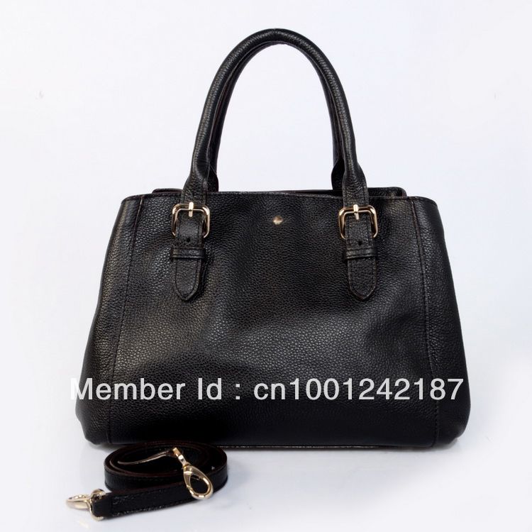 TE0311 free shipping new arrival KS new york Patent leather handbag best quality cowhide designer brand bags color black(China (Mainland))