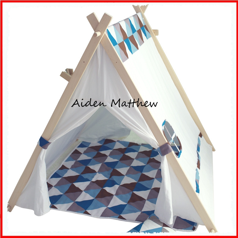 Hot Sale Eco Friendly Kids Tent Play House Cotton Canvas(China (Mainland))