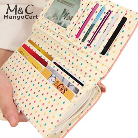 fashion lady women long purse clutch