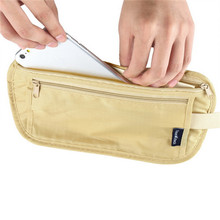 1pc Travel Storage Bag Money Security Purse Waist Pack PurseMoney Coin Cards Passport Waist Belt Tickets