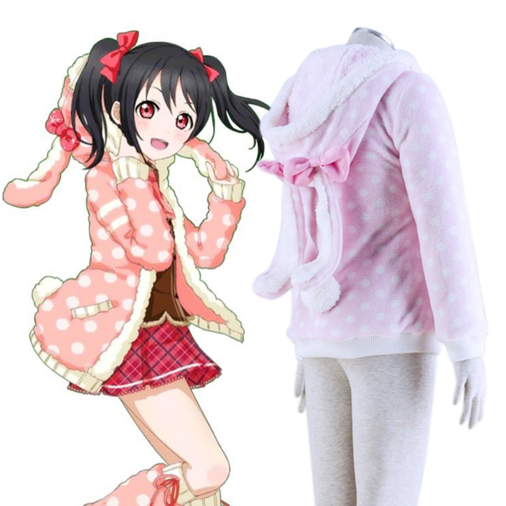 Love Live School Idol Project Love Live Cosplay Yazawa Nico Cosplay Costume Lovely Bunny Hoodie Kawaii Animal Costume Easter Day