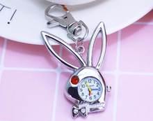 CHAOYADA Charmoso minni chave coelho cadeia de moda jóias Relógio de Bolso colar relógio de bolso o transporte Da Gota(China)