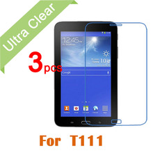 "3pcs/lot HD ultra clear screen protector Protection Guard Film For Samsung Galaxy Tab 3 Lite 7.0 7"" T110 T111 + cleaning clothes(China (Mainland))"