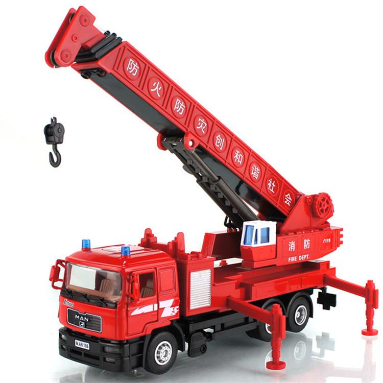Free shipping 1:40 alloy enhanced version cranes telescopic boom crane model toys for children(China (Mainland))