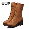 Women Boots Shoes Brown Mid Calf Casual Winter Shoes Fashion Warm Boots Black Grey Yellow Snow