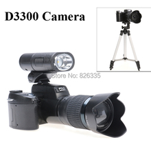 5MP CMOS D3300 Photo Video Digital Camera 21X Optical Zoom Three Lens LED Headlamp with Camera Stand