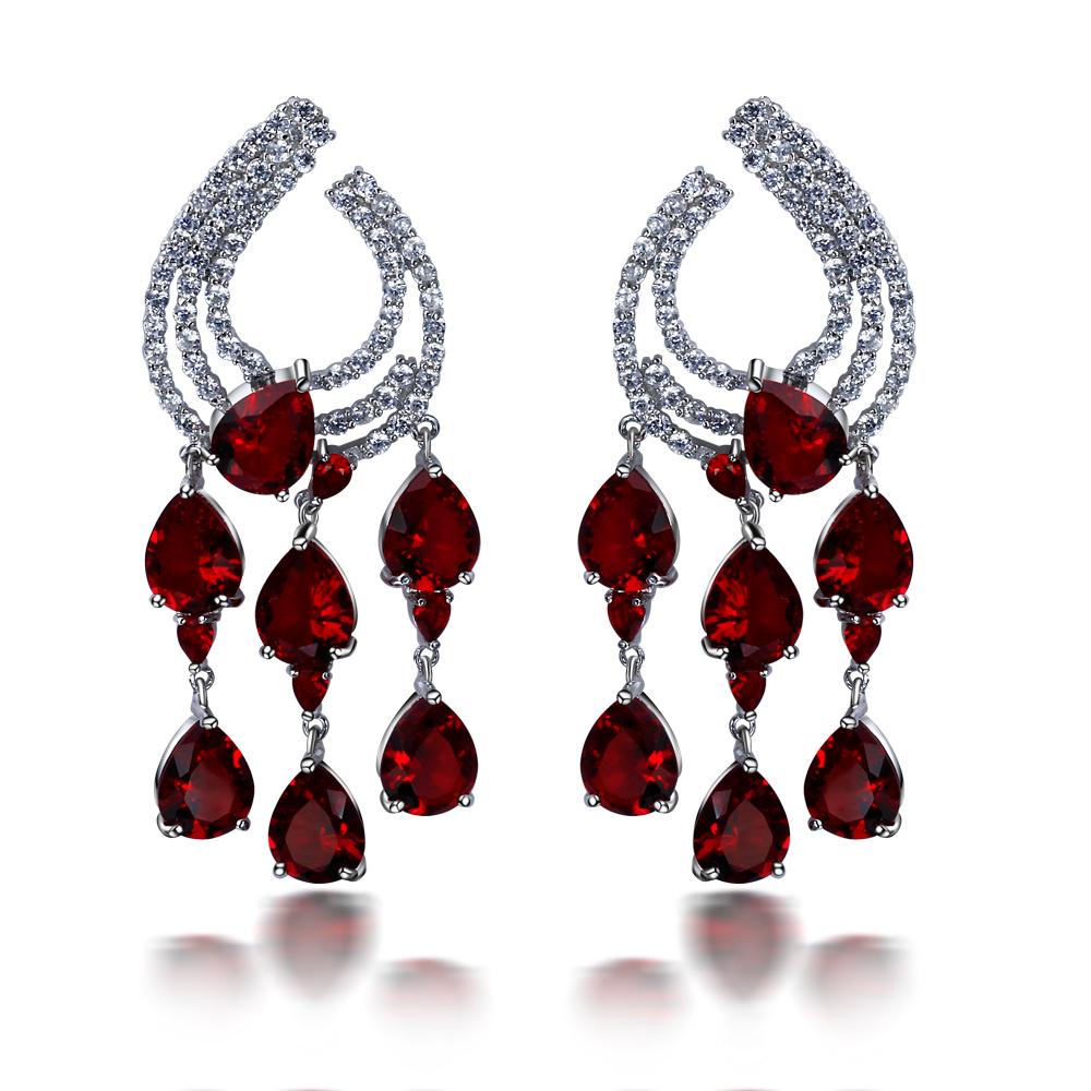 64MM  Women Luxury Vintage Earrings AAA Cubic Zirconia Platinum plated color stone drop Earrings Allergy Free Lead Free<br><br>Aliexpress