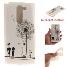 Phone Cases for LG Spirit Soft TPU Case for LG Spirit H422 H440Y H440N H420 back skin cover phone coque, HY