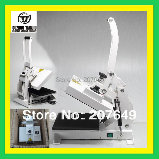TJ wholesale  High Pressure Heat Press Machine,Mini T shirt or shoes  transfer machine 23*32cm 1000W
