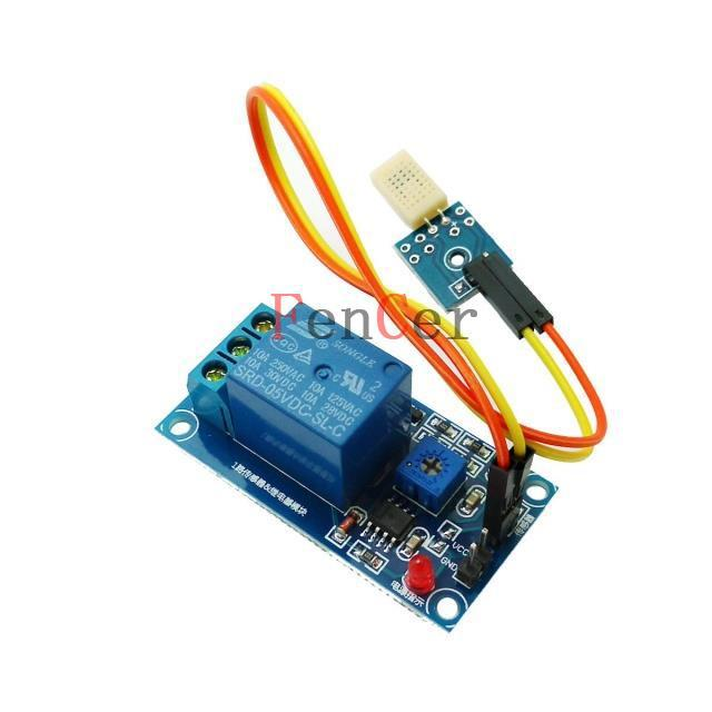 15 v wet humidity sensor, relay module switch humidity sensitive resistor is lower than the humidity controller plate with line(China (Mainland))