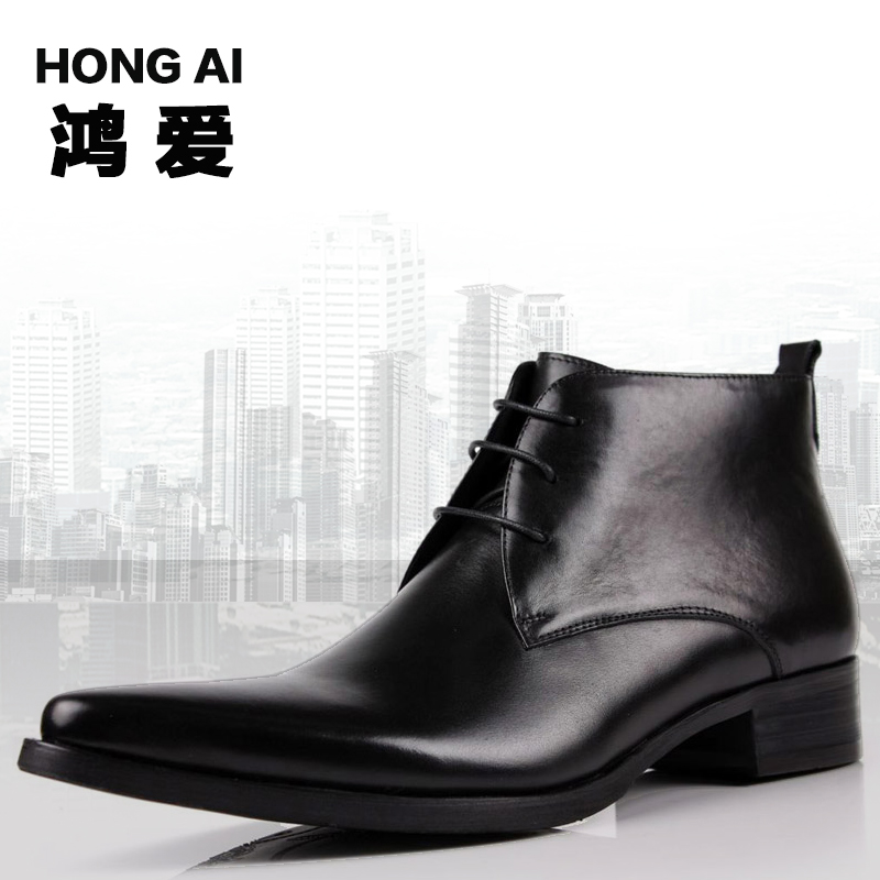 2016 New Fashion Pointed Toe Commercial Men's Genuine Leather Cowhide Zipper Design Tactical Delta Men Black Military Boots(China (Mainland))