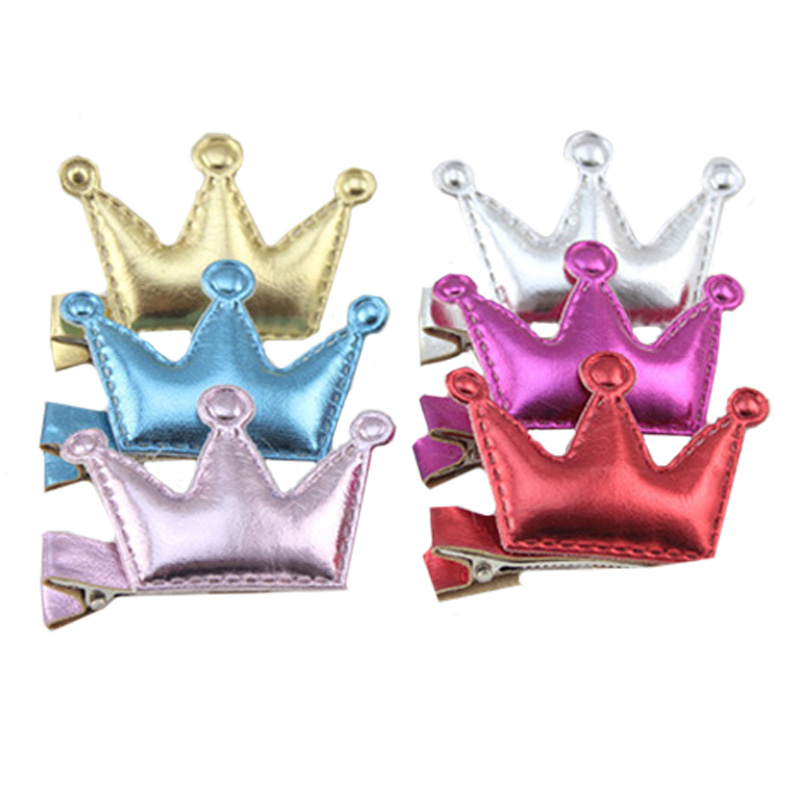 5PCS Summer Style Children Shiny Crown Baby Hairpins Girls Hair Accessories Crown Accessories Baby Hair Clip Party Barrette Hot(China (Mainland))