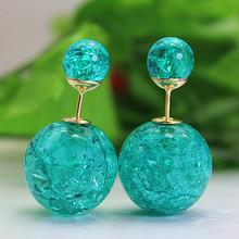 2016 nouvelle marque de mode jewery élégant double imitation perle boucles d'oreilles pour les femmes mignon opale perles boucles d'oreilles pour le cadeau(China (Mainland))