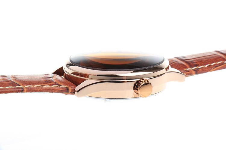 2016 НОВЫЙ BIAOKA часы Коричневого стекла календарь Кожаный Ремешок водонепроницаемый мужские автоматические механические часы Дата Часы мужские Наручные Часы