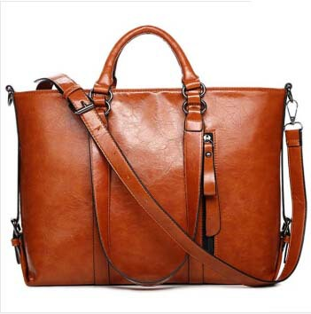 2015 New Women Bags  PU Leather Women Handbags Shoulder Bags  Vintage Woman Casual Tote(China (Mainland))