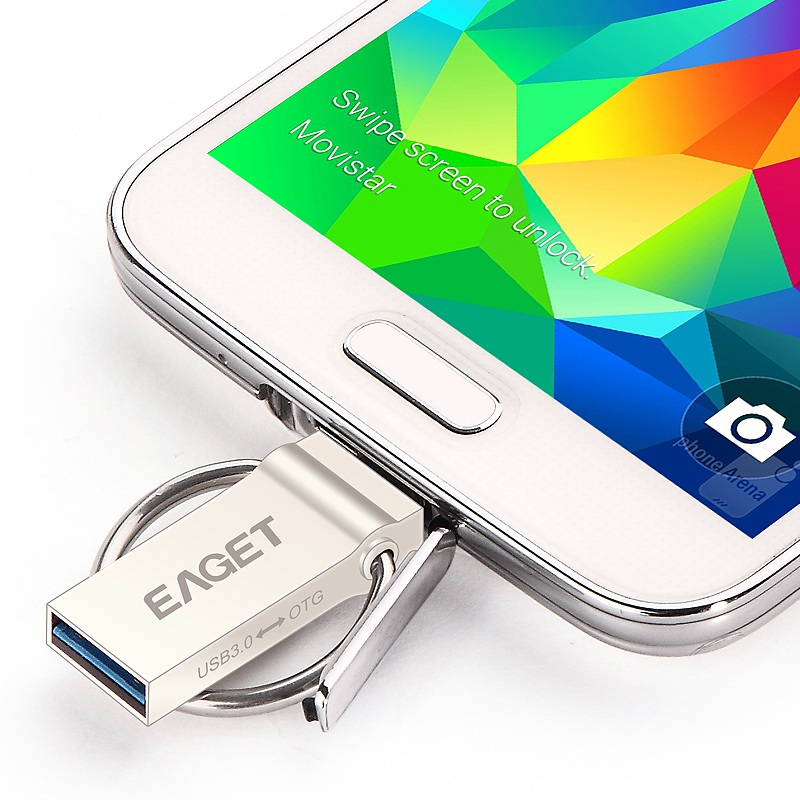 EAGET V90 32gb 64gb USB 3.0 Flash Drive OTG Smartphone Pen Drive Micro USB Portable Storage Memory Metal Cle USB Stick Pendrive<br><br>Aliexpress