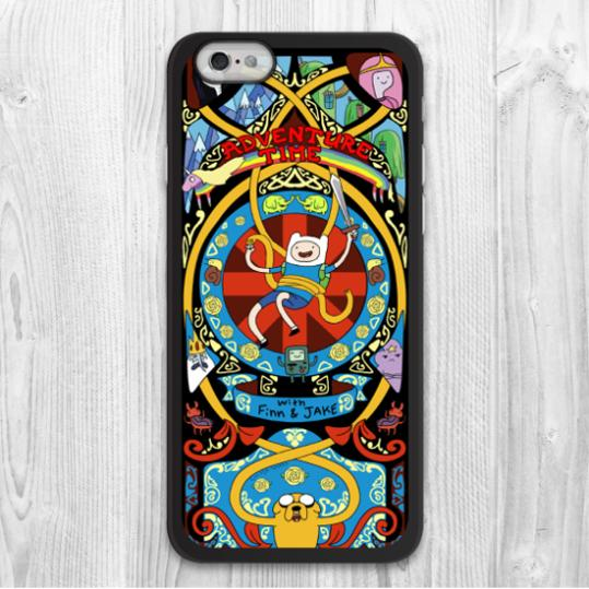 ShenYu Printed Adventure Time Cartoon Print Protective Cover Case For iPhone 6 6 Plus Support Global Wholesale(China (Mainland))