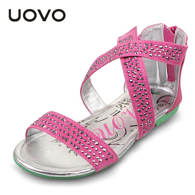 Uovo крест т-ремень обувь девушки сандалии горный хрусталь sandales детские летние ...