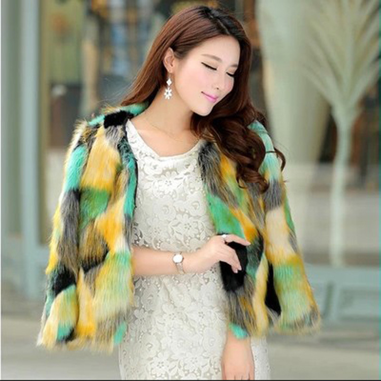 2014 autumn and winter new European and American big grass color luxury leather short paragraph Cheap ladies fur coat(China (Mainland))