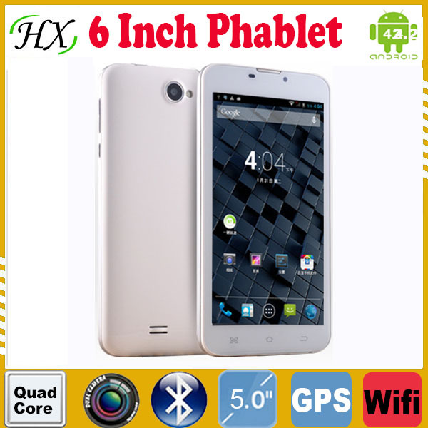 New Cheap 6 inch 3G Phablet quad core Tablet PC Capacitive Screen Android 4.2 tablet 1G 8G Dual camera MTK8382 tablets CDMA GPSW(China (Mainland))