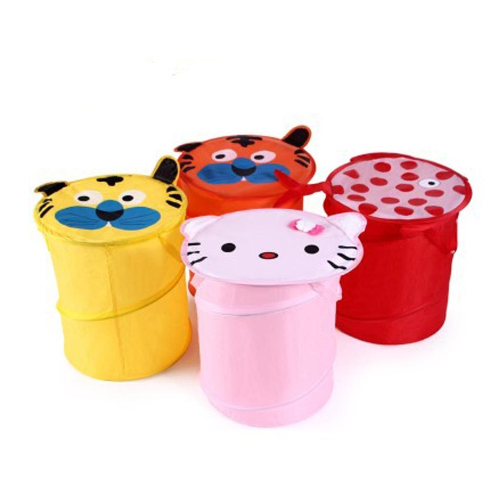40*34cm Soriace Foldable Cute Cartoon Pop up Laundry Toy Bin Storage Hamper Box Basket for Kids Both Girls and Boys(China (Mainland))