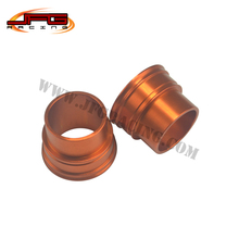BILLET FRONT WHEEL HUB SPACERS FOR SX XC-F SX-F EXC EXC-F/ W XC-W SMR 125 250 300 350 400 450 525 530 DIRT BIKE MOTOCROSS ORANGE(China (Mainland))