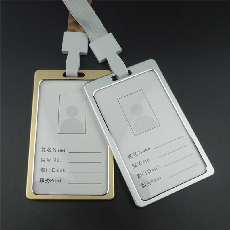 High Quality Aluminum Alloy Metal Work Card Bank Credit Card Holders Identity Badge Lanyard Id Holders badge Reel PY053(China (Mainland))