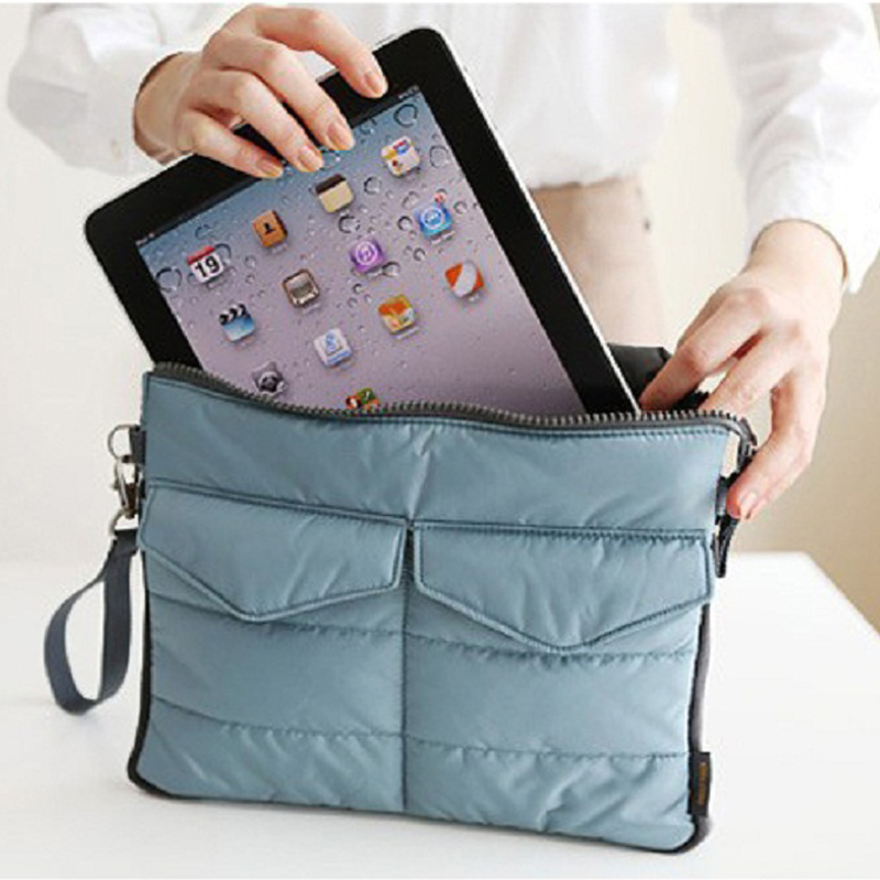 Travel Computer Clutch Tote Organizer Bags Pouch Soft Storage Case Cover for iPad 1/2/3/4 tablet bag storage bag in bag handbag(China (Mainland))