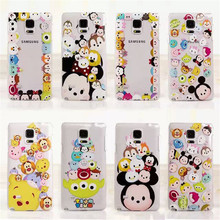 Cute Mickey Minnie Tsum Daisy Mike Slim Clear TPU Phone Cases Cover Samsung Galaxy S4 S5 S6 S6Edge S7 S7Edge Note4 Note5 - Denlais Electronic Co., Ltd store