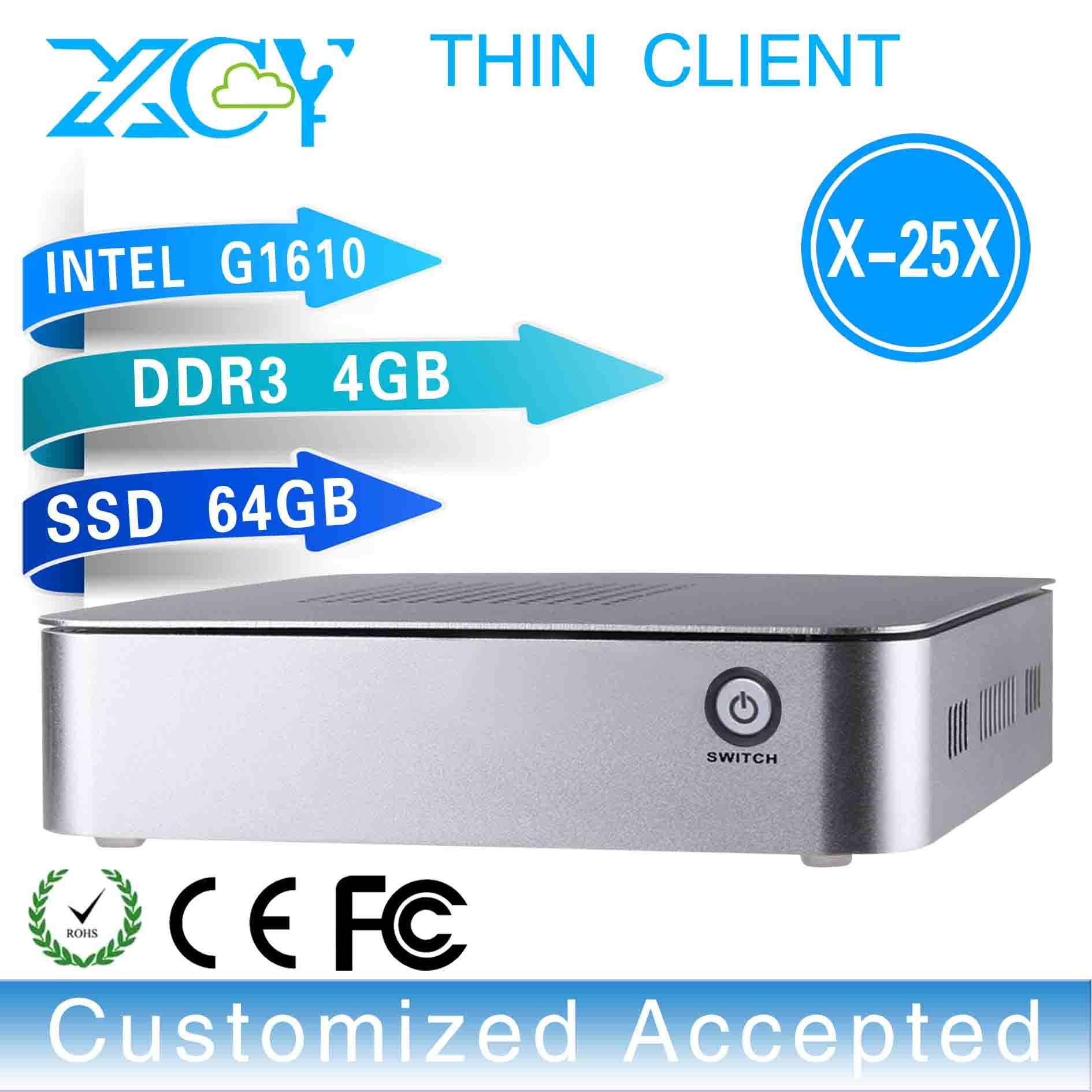 Ultra Thin Mini PC Thin Client Pc Wifi Thin Computer Support Ubuntu Linux X-25x G1610 2.6ghz 4GB RAM 64GB SSD(China (Mainland))